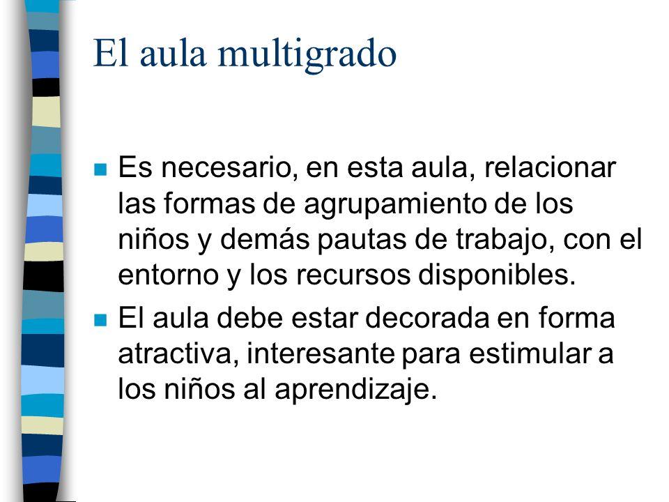 El aula multigrado