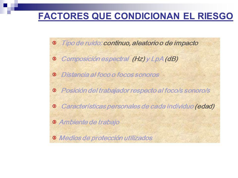 FACTORES QUE CONDICIONAN EL RIESGO