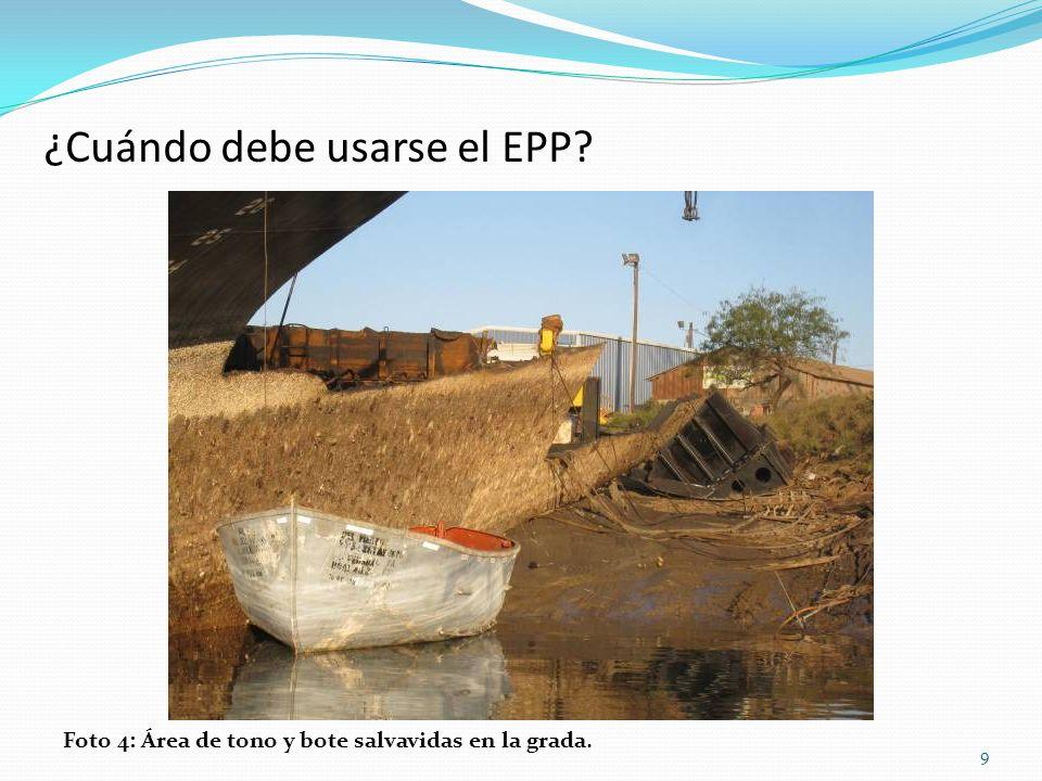 ¿Cuándo debe usarse el EPP