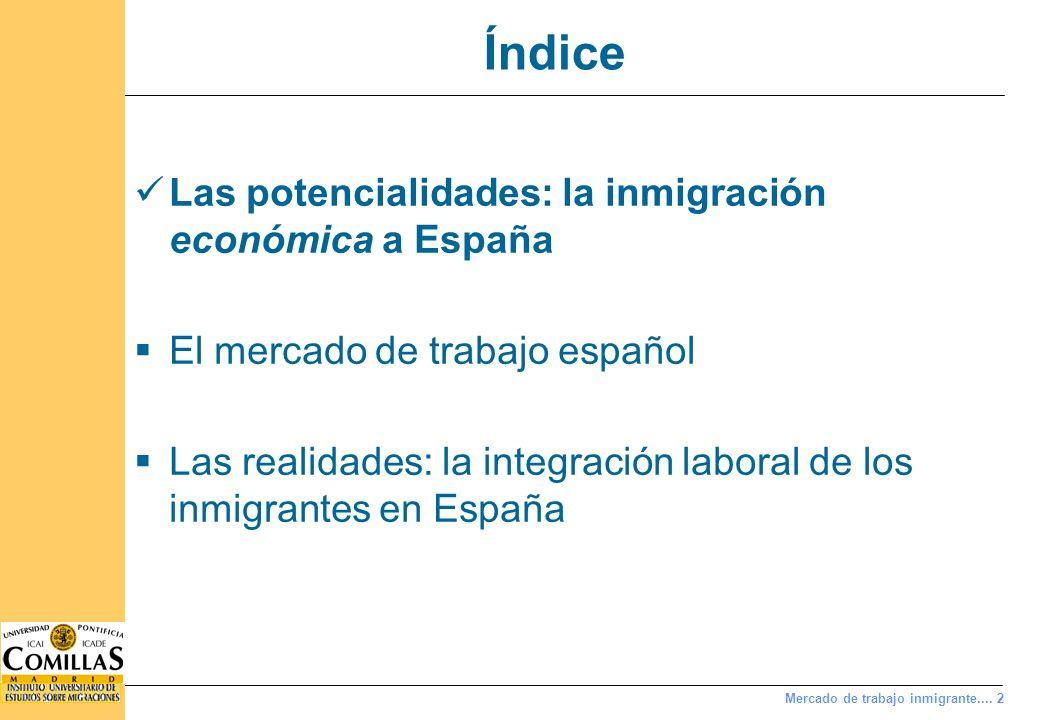 Notas distintivas de la inmigración a España