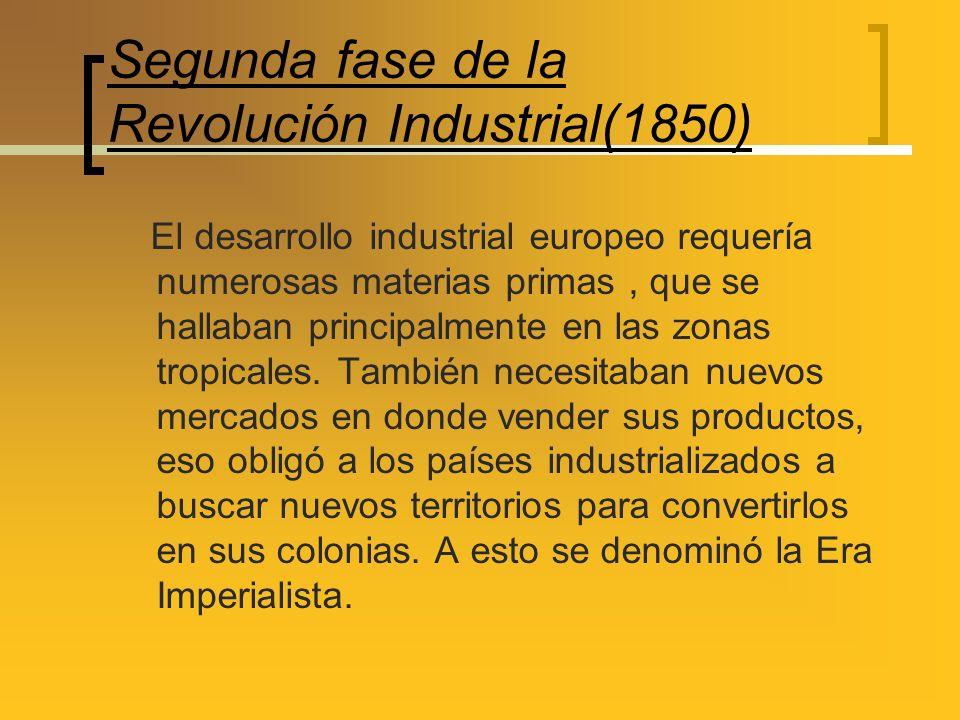 Segunda fase de la Revolución Industrial(1850)