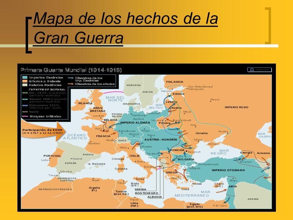 Mapa de los hechos de la Gran Guerra