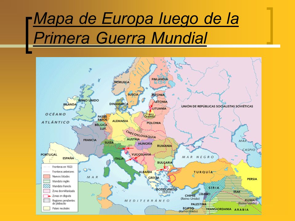 Mapa de Europa luego de la Primera Guerra Mundial