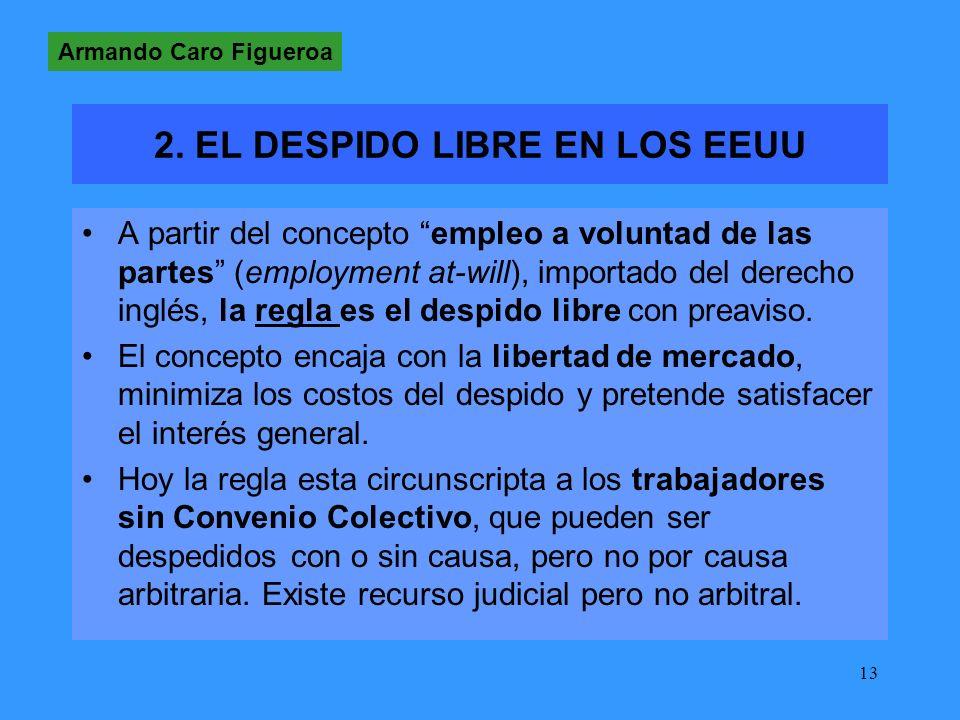2. EL DESPIDO LIBRE EN LOS EEUU