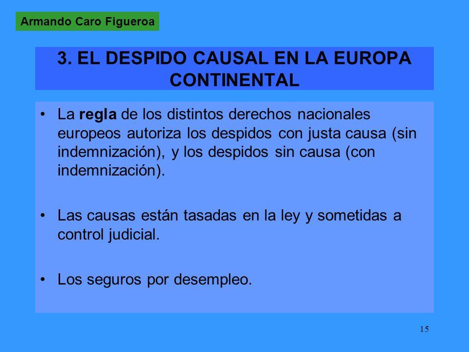 3. EL DESPIDO CAUSAL EN LA EUROPA CONTINENTAL