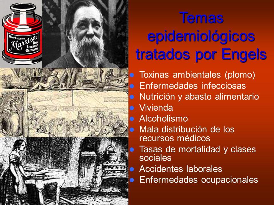 Temas epidemiológicos tratados por Engels