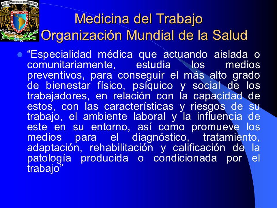 Medicina del Trabajo Organización Mundial de la Salud