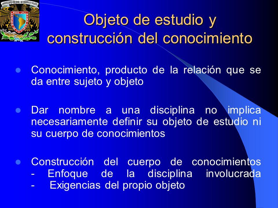 Objeto de estudio y construcción del conocimiento