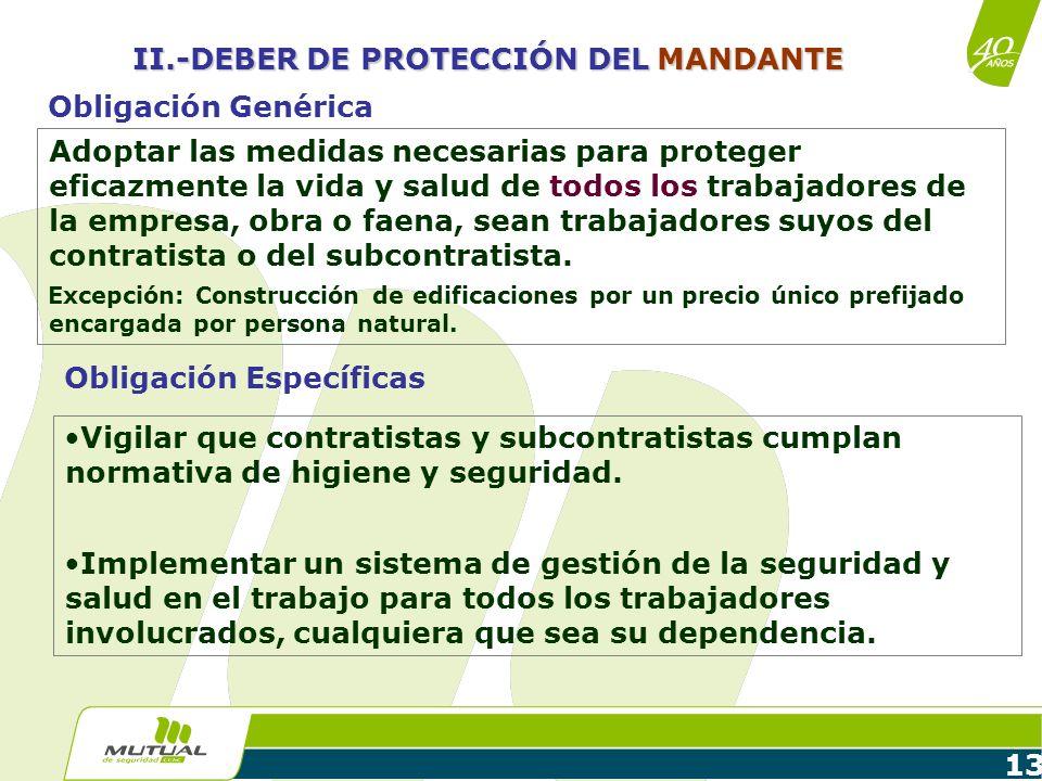 II.-DEBER DE PROTECCIÓN DEL MANDANTE