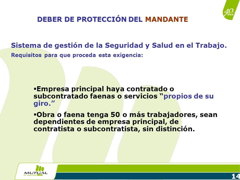 DEBER DE PROTECCIÓN DEL MANDANTE