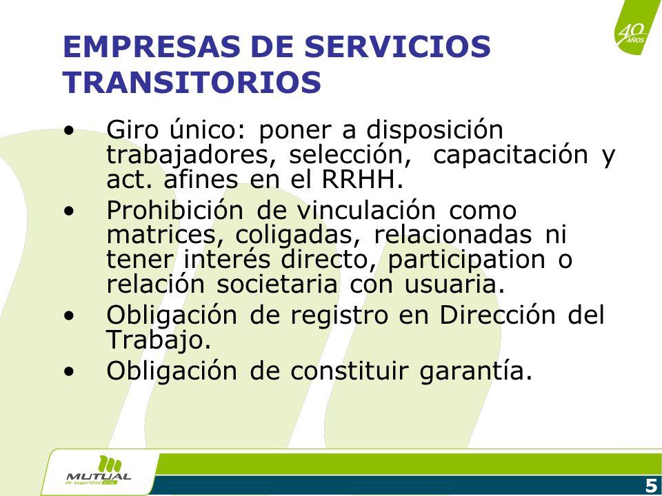 EMPRESAS DE SERVICIOS TRANSITORIOS