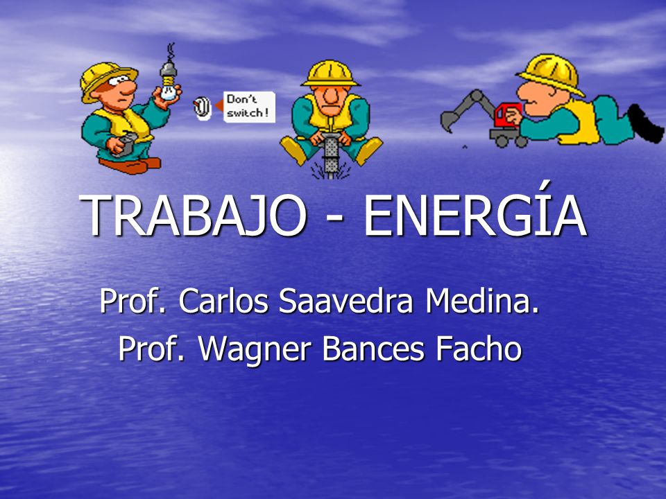 Prof. Carlos Saavedra Medina. Prof. Wagner Bances Facho