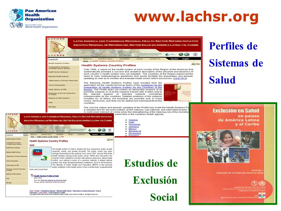 www.lachsr.org Perfiles de Sistemas de Salud