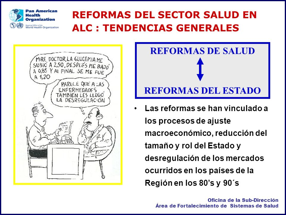 REFORMAS DE SALUD REFORMAS DEL ESTADO