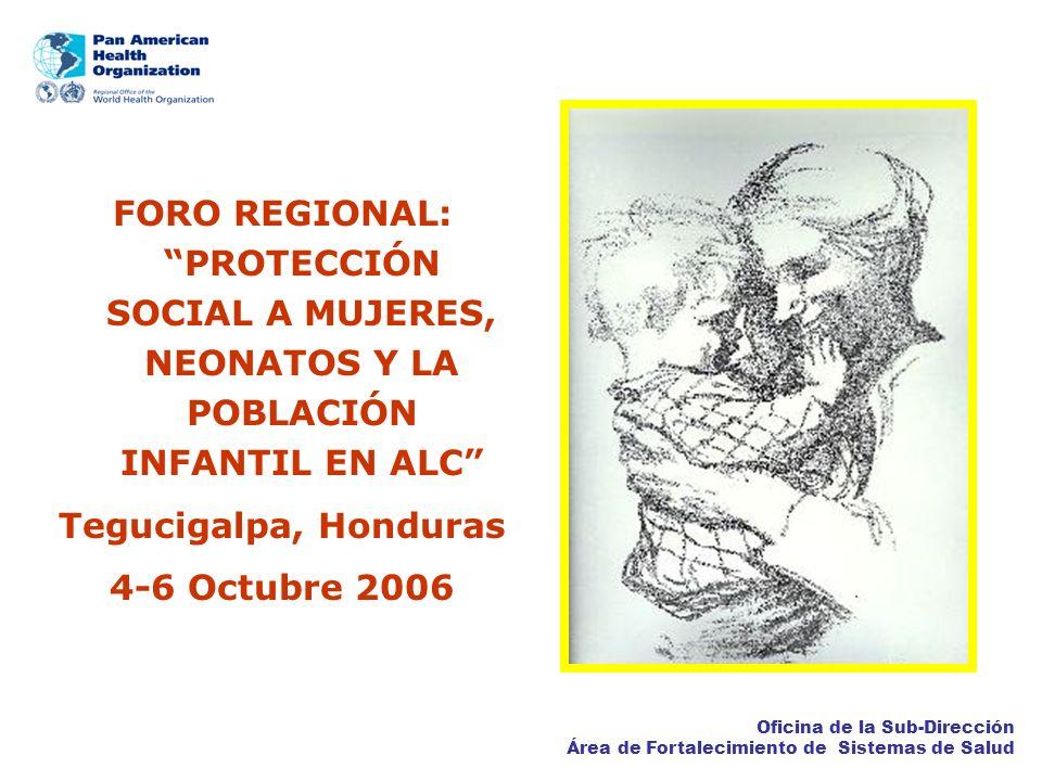 FORO REGIONAL: PROTECCIÓN SOCIAL A MUJERES, NEONATOS Y LA POBLACIÓN INFANTIL EN ALC