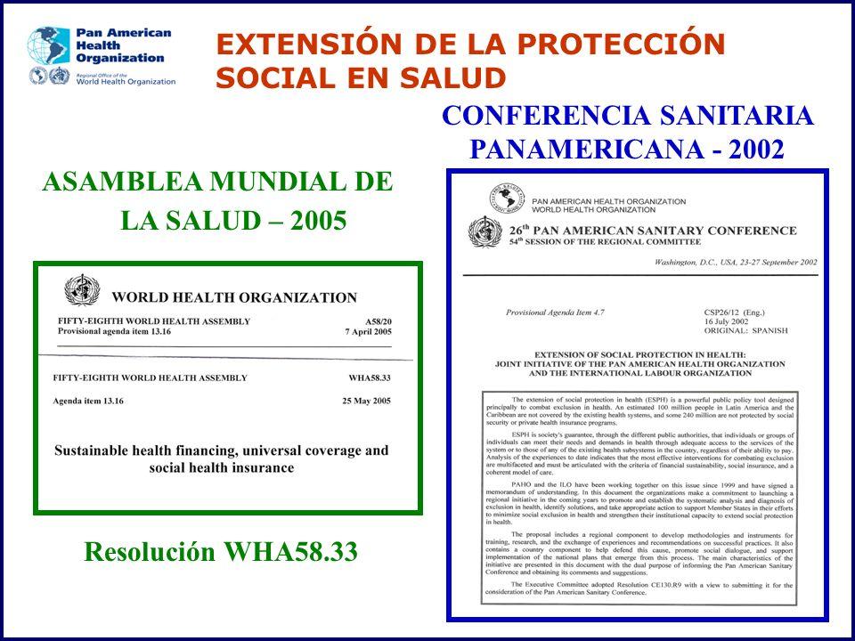 EXTENSIÓN DE LA PROTECCIÓN SOCIAL EN SALUD