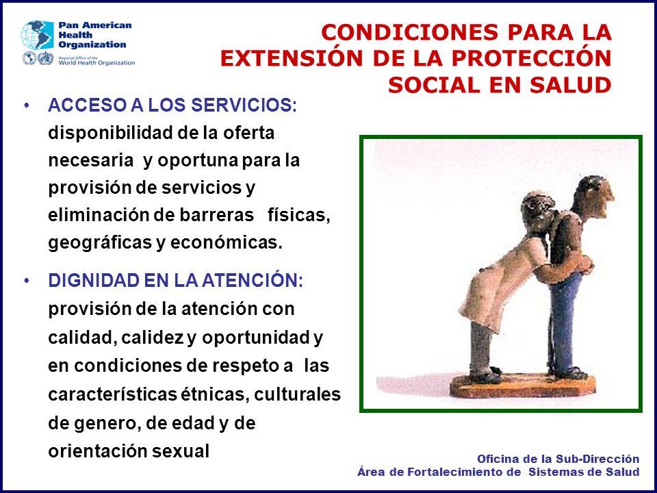 CONDICIONES PARA LA EXTENSIÓN DE LA PROTECCIÓN SOCIAL EN SALUD