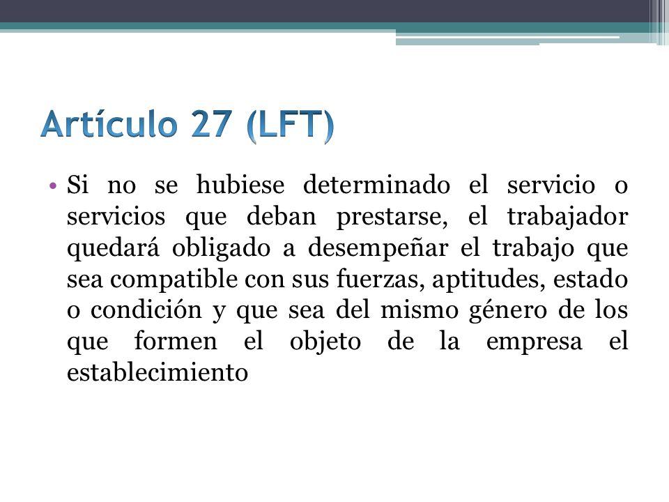 Artículo 27 (LFT)
