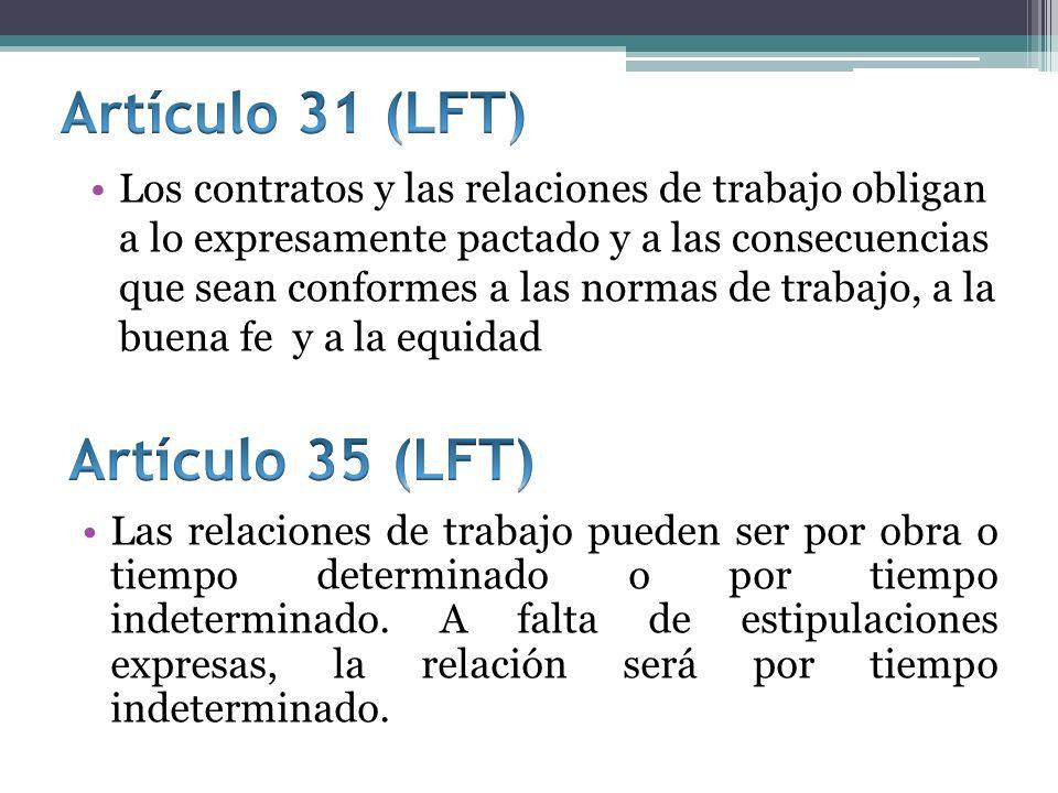 Artículo 31 (LFT) Artículo 35 (LFT)