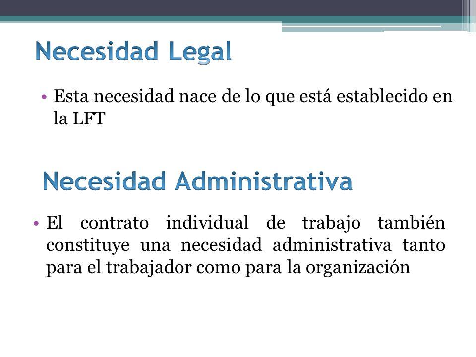 Necesidad Administrativa