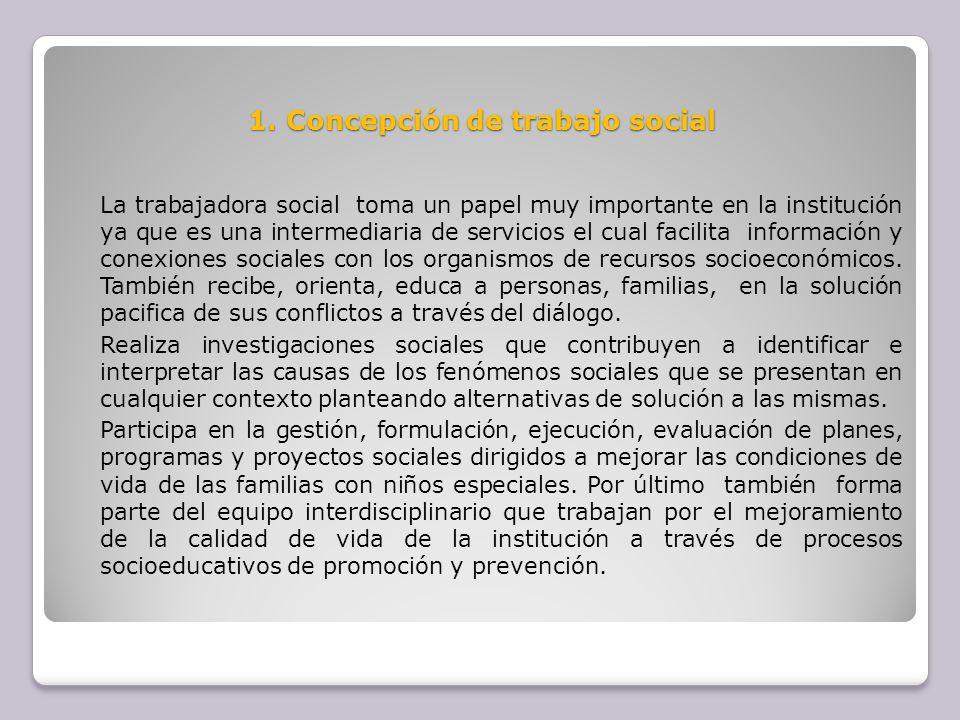 1. Concepción de trabajo social