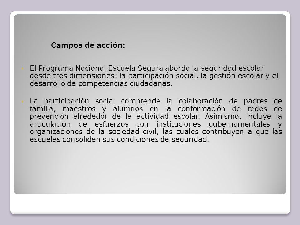 Campos de acción: