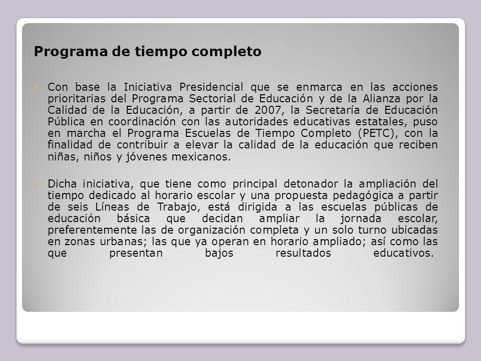 Programa de tiempo completo