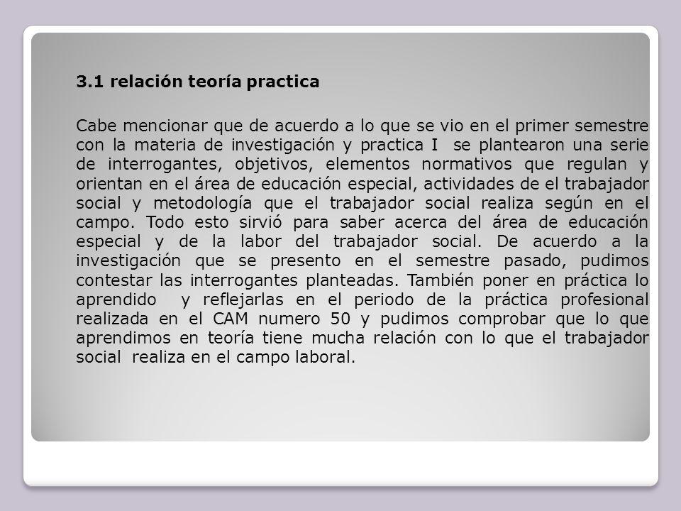 3.1 relación teoría practica