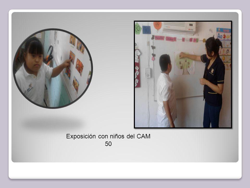 Exposición con niños del CAM 50