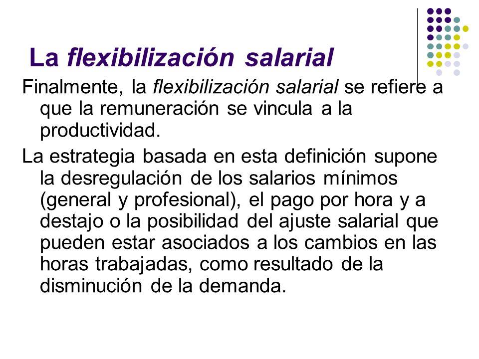 La flexibilización salarial