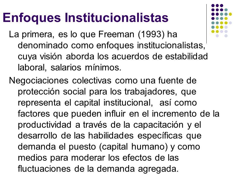 Enfoques Institucionalistas