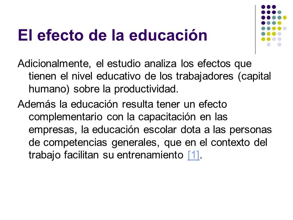 El efecto de la educación