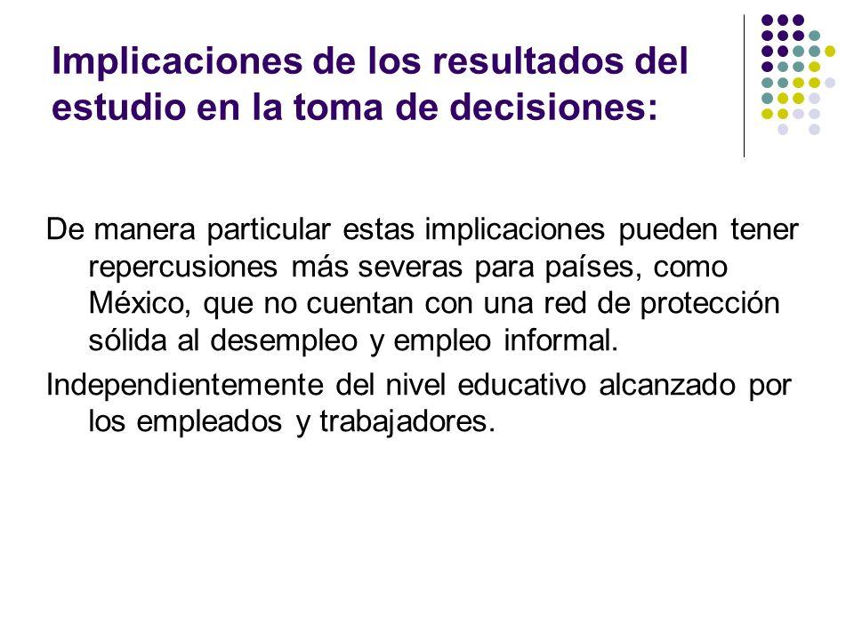 Implicaciones de los resultados del estudio en la toma de decisiones: