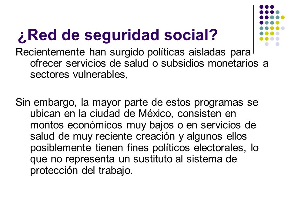 ¿Red de seguridad social