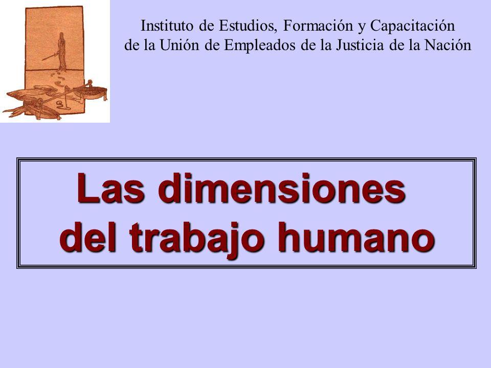 Las dimensiones del trabajo humano