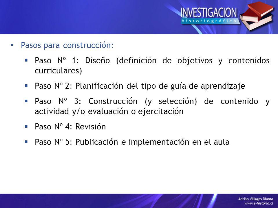 Pasos para construcción:
