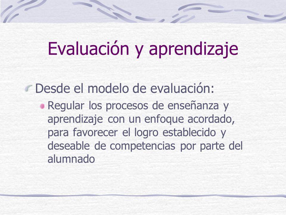 Evaluación y aprendizaje