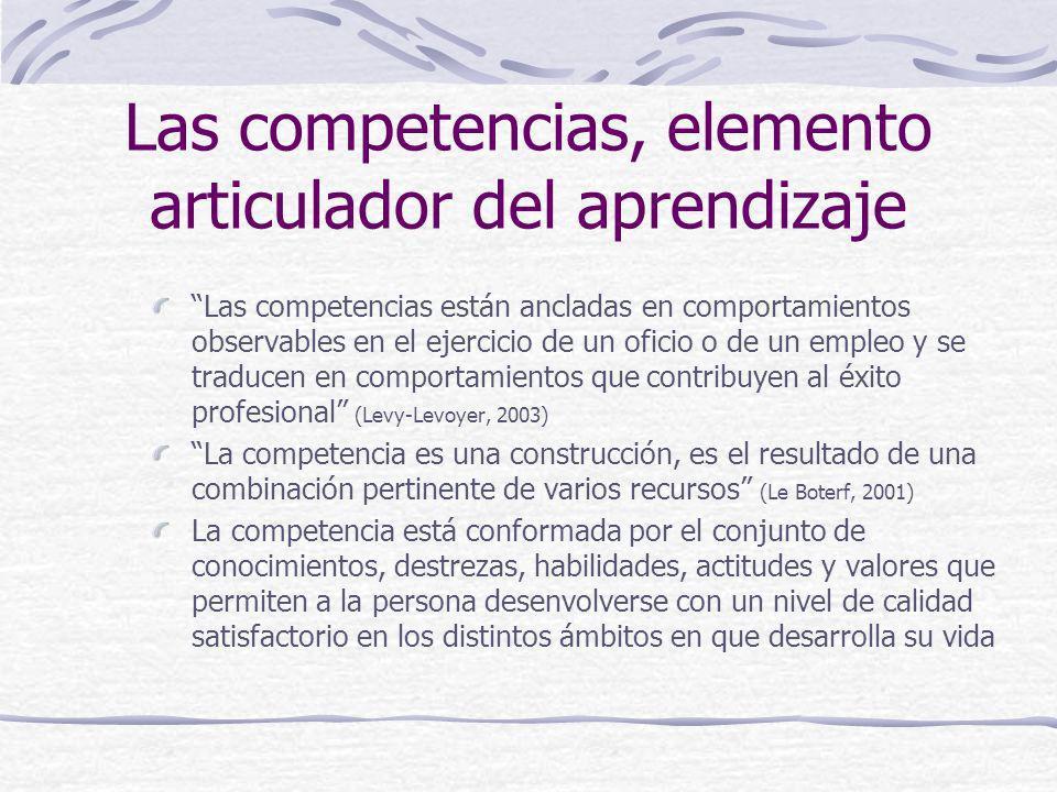 Las competencias, elemento articulador del aprendizaje
