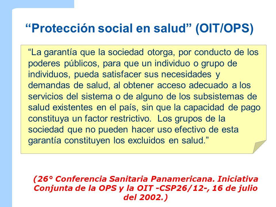 Protección social en salud (OIT/OPS)