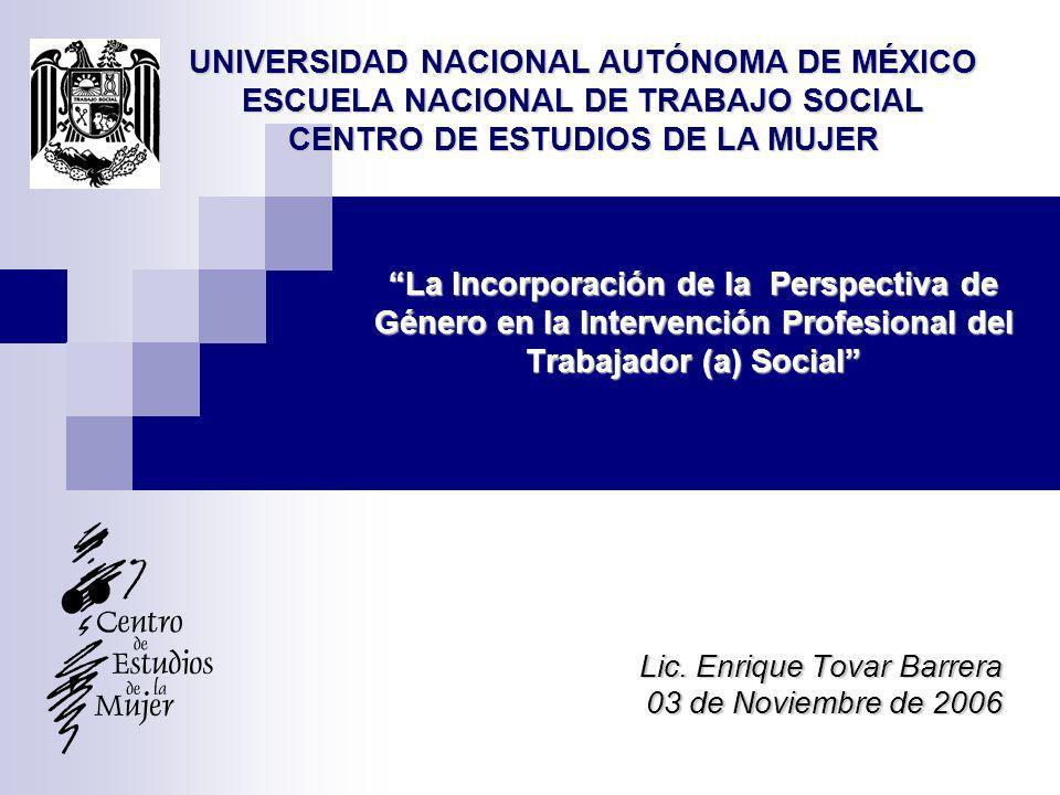 Lic. Enrique Tovar Barrera 03 de Noviembre de 2006