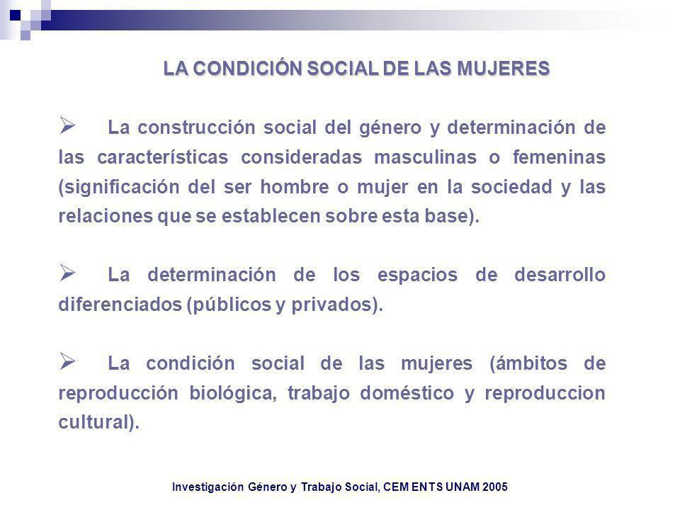 LA CONDICIÓN SOCIAL DE LAS MUJERES