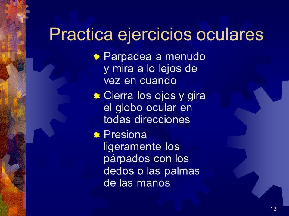 Practica ejercicios oculares