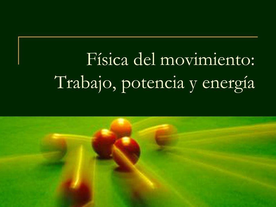 Física del movimiento: Trabajo, potencia y energía