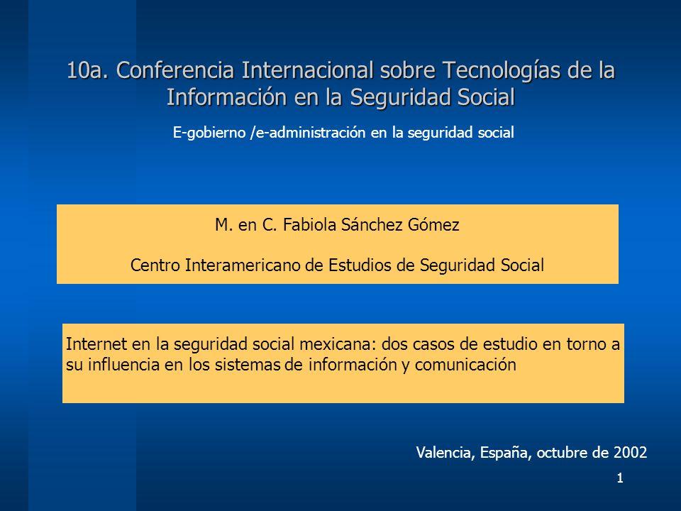 E-gobierno /e-administración en la seguridad social