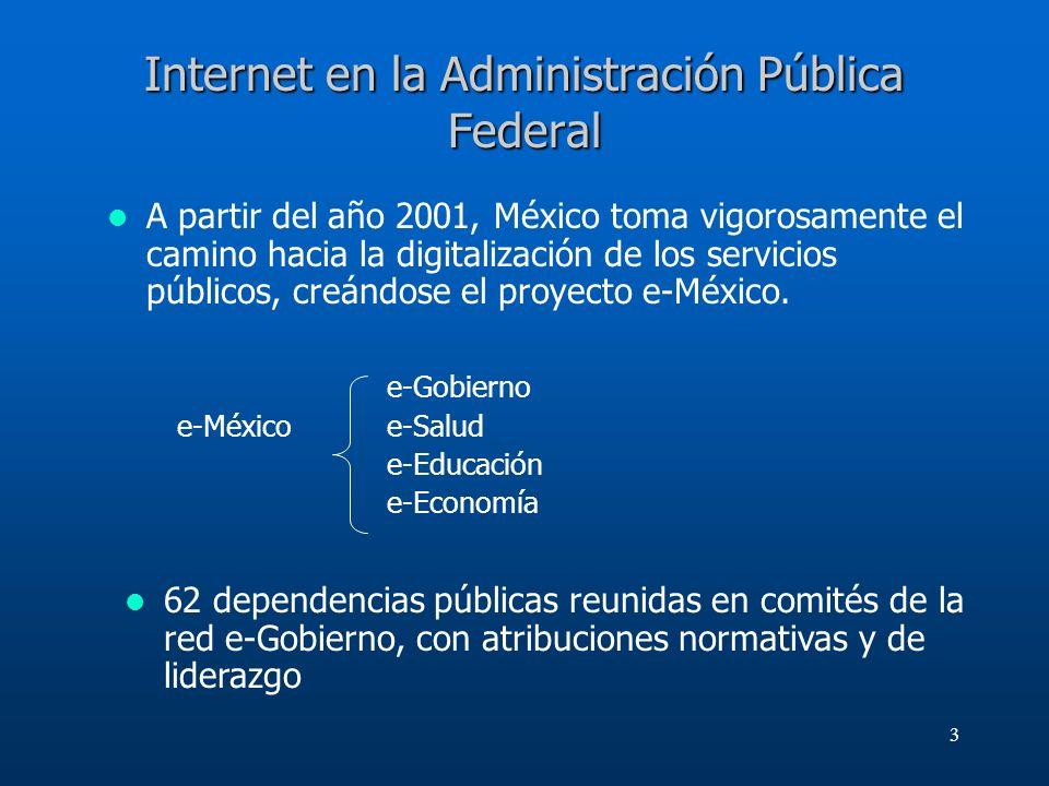 Internet en la Administración Pública Federal