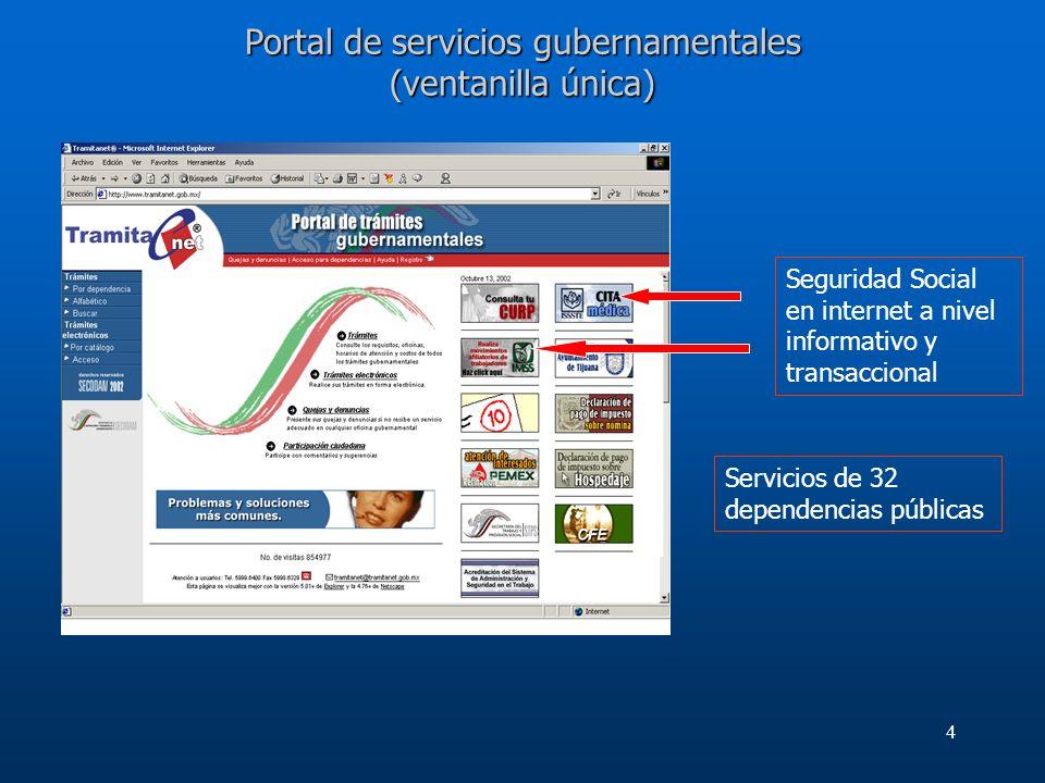 Portal de servicios gubernamentales