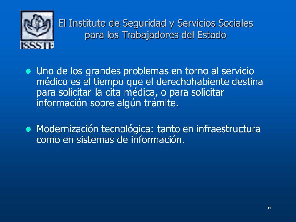 El Instituto de Seguridad y Servicios Sociales para los Trabajadores del Estado