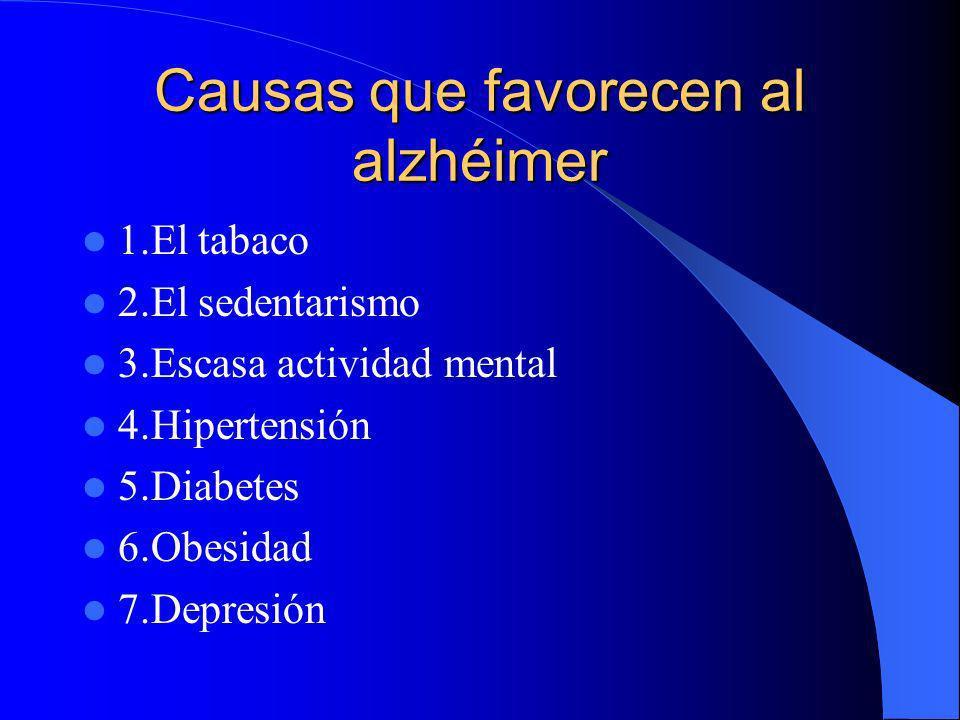 Causas que favorecen al alzhéimer