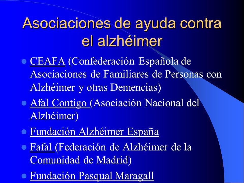 Asociaciones de ayuda contra el alzhéimer