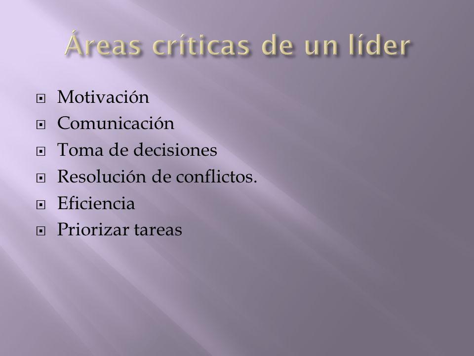 Áreas críticas de un líder